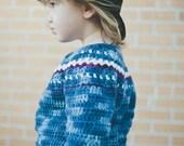Fair Isle Cardigan Crochet Pattern No. 9