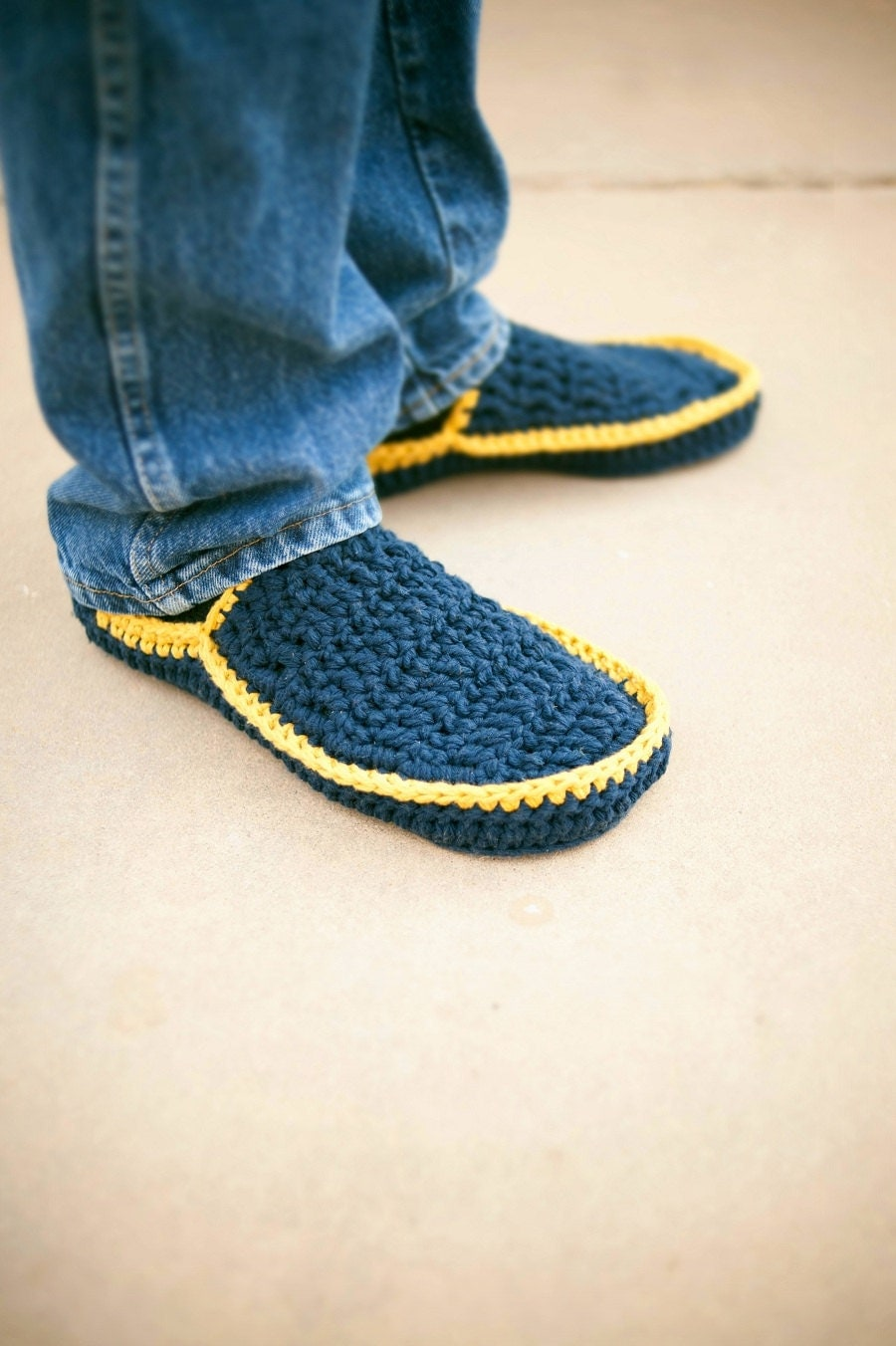 Crochet Patterns For Men Slippers Men 39 s House Slippers Crochet