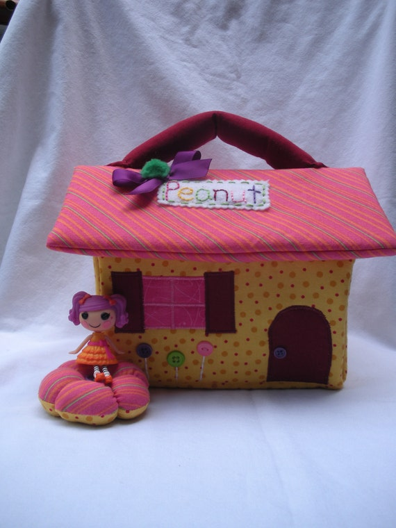 Lalaloopsy fabric doll house-Peanut Big Top inspired for mini lalaloopsy dolls// Ready to Ship