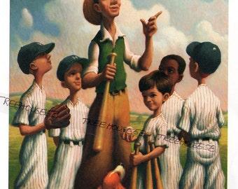 BOYS BASEBALL Little League Game Sports kids prints Coach Bat Ball Boys Room Decor Framable art Home Run Childs Room