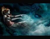 Genie Sorceress Dark Fantasy Art Print 13x19