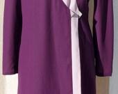Vintage Benny Ong Ensemble, Purple Dress, Ensemble Skirt and Top, Chiffon Dress