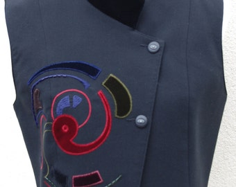 Waistcoat, Black Didier Parakian Vest, Black Waistcoat