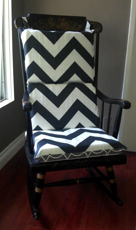 Rocking Chair Cushion Chevron Dwell Studio by RockinCushions