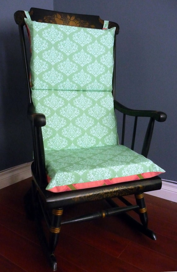 on sale rocking chair cushion peppermint twist by rockincushions. Black Bedroom Furniture Sets. Home Design Ideas