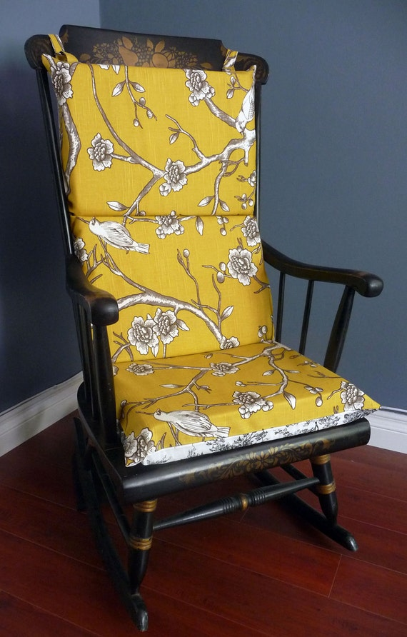 ON SALE - Rocking Chair Cushion, Dwell Studio French Toile
