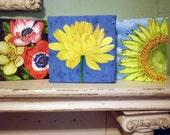 """Oil painting on canvas Floral 3rd in the new series """"Alphabet Florals"""""""