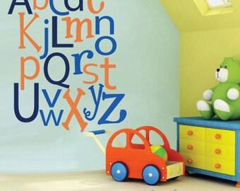 Reusable Alphabet Wall Decal  LARGE SET   SK306Swa