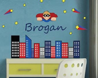 Wall Decal - Childrens Monogram Fabric Wall Decal - REUSABLE - M803SWA