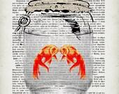 LOVE SHIPPING, original ARTWORK, mixed media, print
