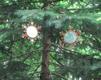 Vintage Reflector Ornaments Christmas Snowflakes