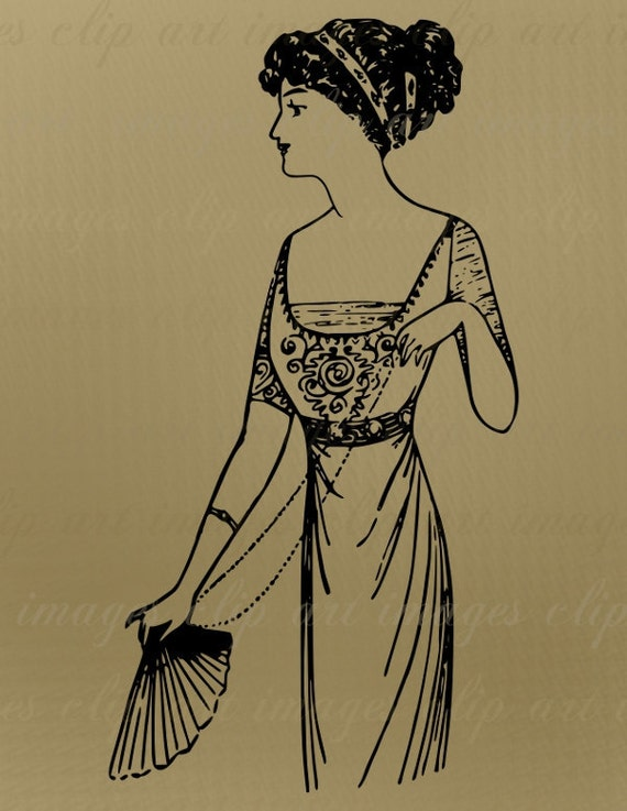 Clip Art, Paris Fashion 1910, Vintage, Royalty Free, No Credit Required