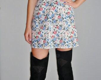 Floral Rose Mini Dress
