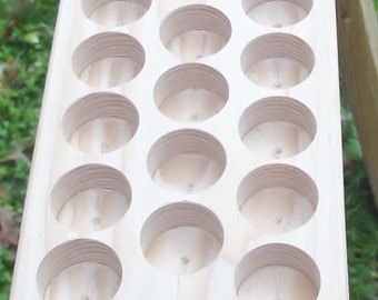 Woodworking  Tools -Supplies- Storage -17 Hole-Craft Storage Tray -Paint Bottles Storage - Wood Handmade Supply Storage