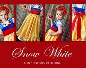 Snow White Inspired Dress READY TO SHIP- 12 to 18 mon