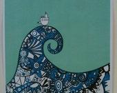 Seascape in blue: print