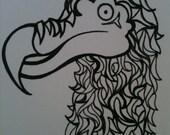Dead as a dodo 5 x 7 extinct print