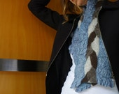 Felted Designer Women's Clothes Grey scarf nuno felted