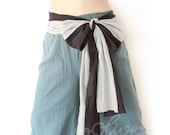 Clearance Sale.. Cotton Elastic Waist Pants in Blue