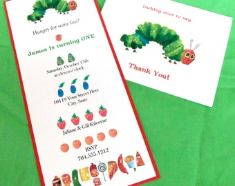 Very Hungry Caterpillar Invitation