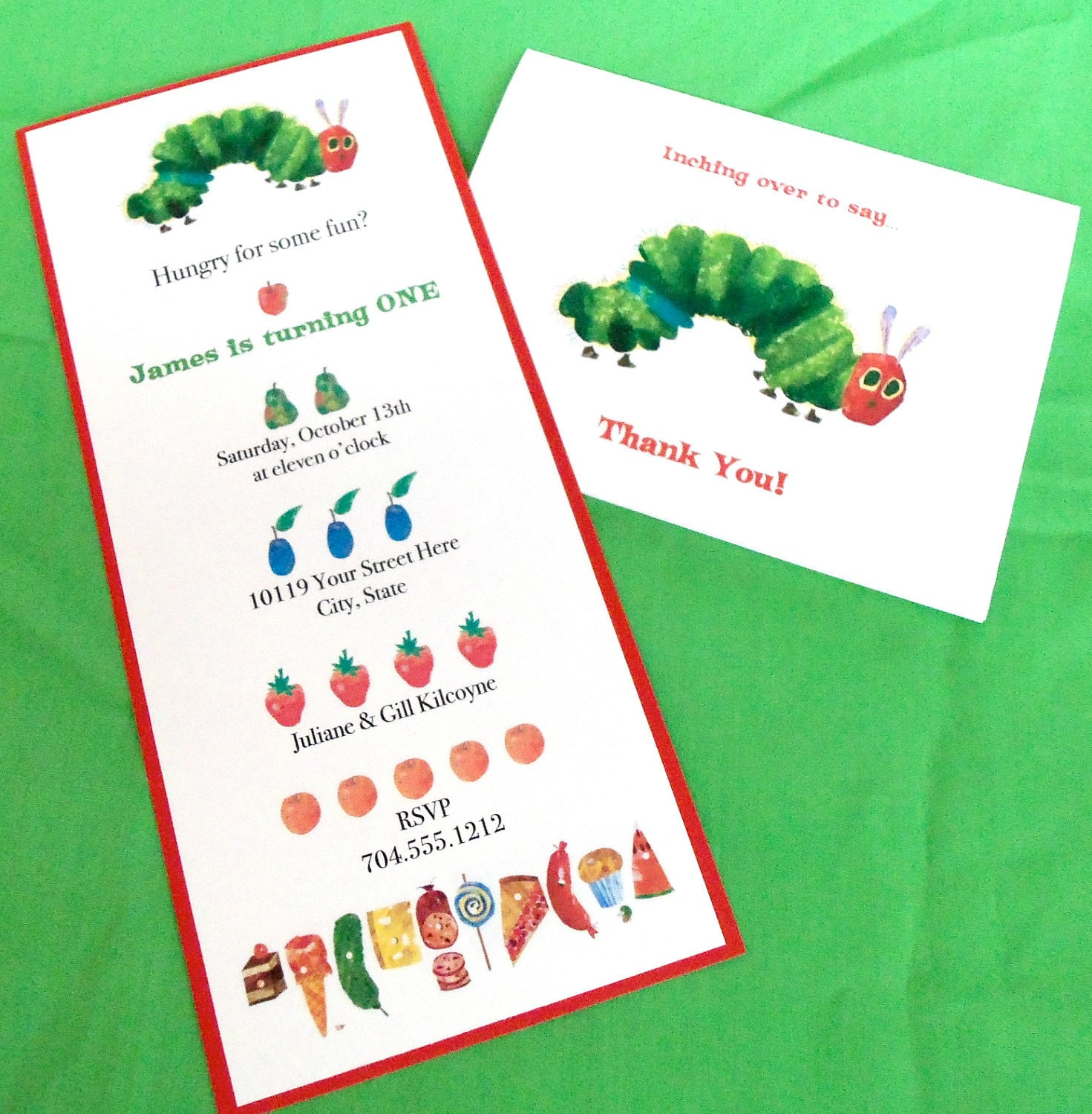 Very Hungry Caterpillar Invitation by BloomingEvents on Etsy