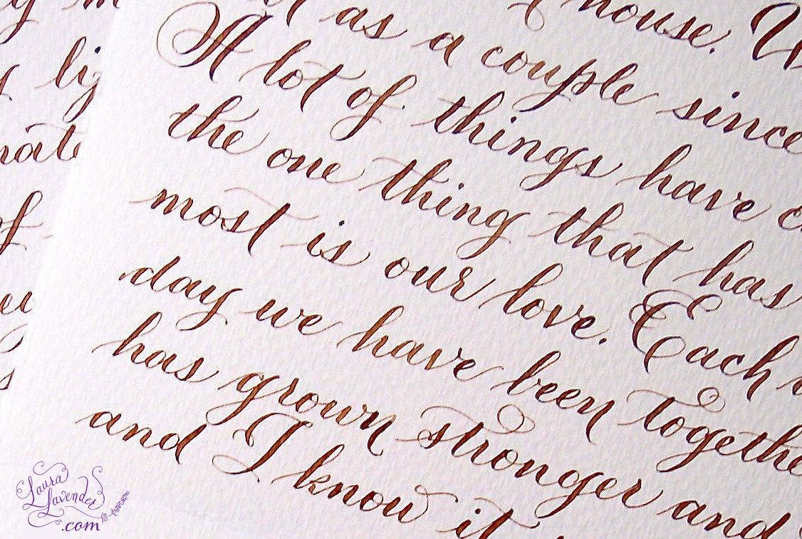 Love letter hand lettered calligraphy