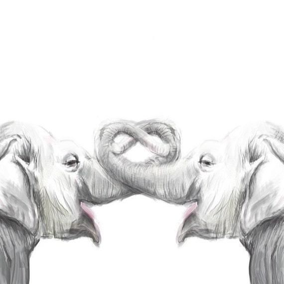 Elephant Painting original watercolor painting by triplestudio - photo#4