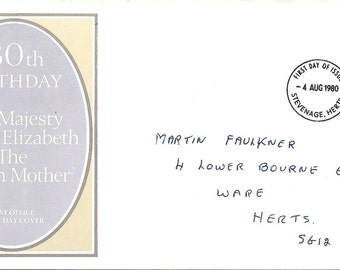 Queen Mother 80th Birthday First Day Cover - SALE