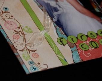 splendor  12x12 Two-Page Layout Pre-cut Scrapbook KIT - girl, spring, wedding, flowers, baby