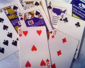 Vintage Airline Playing Cards, 2 Card Decks, Eastern Airlines, Kent Cigarettes Airplane Souvenirs