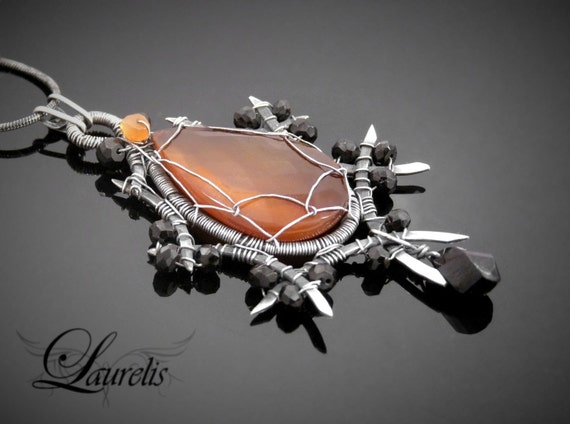 Sterling silver spiked vampire pendant - RESERVED LISTING for D.S. - Please do not try to buy it if it is not you