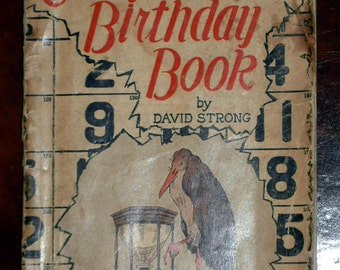 Everybody's Birthday Book by David Strong 1925 (Paperback)