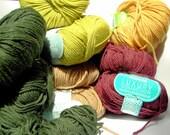 DESTASH SALE Pack Woodland colours - Fine Merino 5 colours: 390gm total