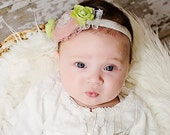 Easter Baby Girls Headband Newborn Headband Vintage for Spring/Summer Green, Pink-Easter Headband