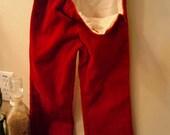 Custom Red Velvet Pants
