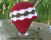 Crochet Pattern 006 - Pom-Pom Ear-flap  Hat - Baby Toddler Children Teen Adult Girls Boys Unisex Adult Winter Ear Flap Hat PomPom Christmas