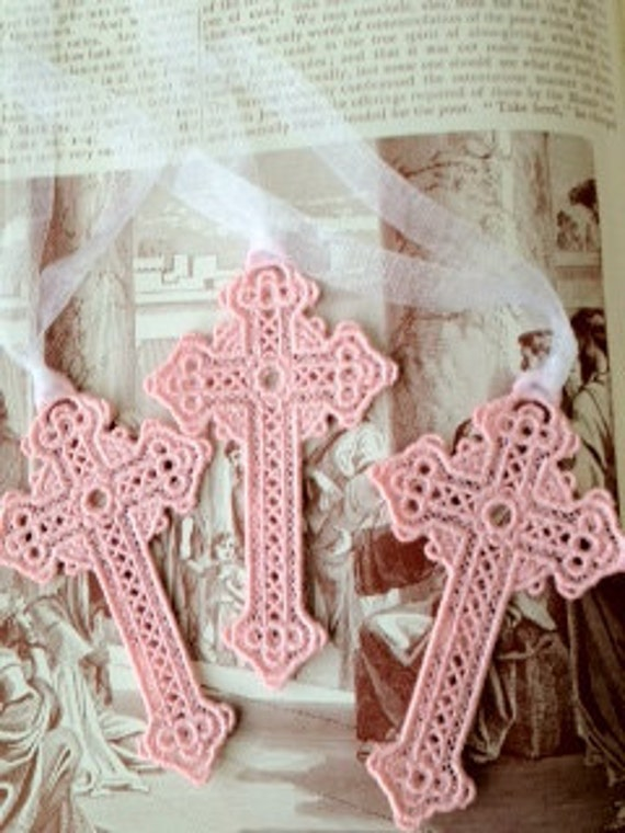 """Lace """"Cross"""" Bookmark...can be made to order"""