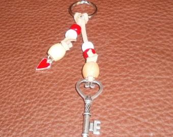Key to My Heart Valentine Sweetheart Keychain