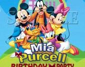 Disney Mickey Mouse - Personalized Birthday Party Invitation - Mickey Mouse, Minnie Mouse, Goofy, Pluto, Daisy, Donald