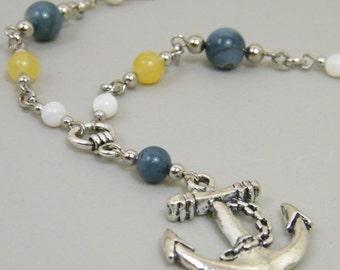 Gilligans Memento - Nautical Anchor Pendant Necklace