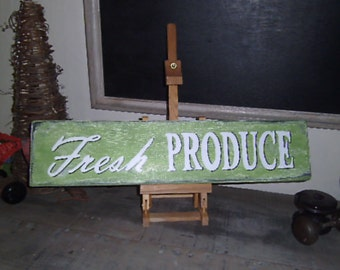 Handpainted Fresh Produce sign