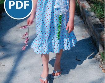 SALE Memory Lane Sun Dress PDF pattern sz 3-8