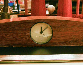 Rosewood Mantle Clock Piotr Sierakowski for Koch and Lowy