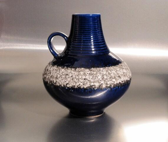 West German Lava Vase. Art Pottery.