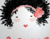 Painting - Girl Art Print  - Art for Children - Andriana