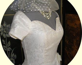 Vintage Gunne Sax Dress NWT  Lace over Satin Jessica McClintock Great Wedding Party Dress Off the Shoulder MINT Mad Men Retro Fabulous
