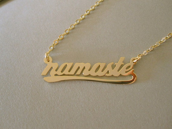 Personalized Gold Name Necklace with Design A