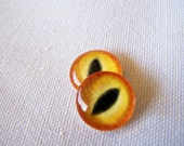 Glass cat eyes 12mm cabochons for jewelry or sculpture