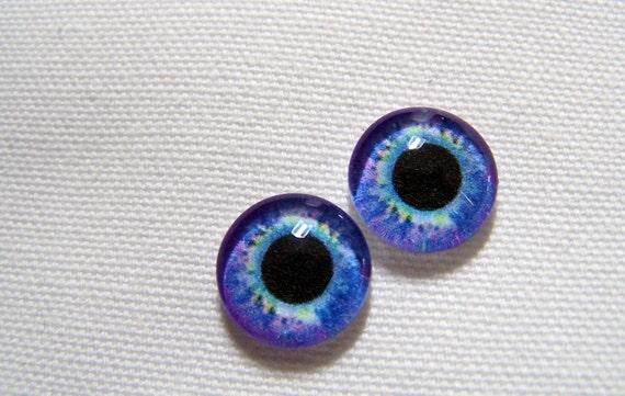 Doll eyes glass eyes for your art dolls or fantasy sculptures 12mm eyes