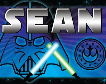 Children's Star Wars Themed Personalized Placemats / Party Favors
